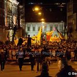 Miting al fanilor echipei de fotbal Universitatea Cluj pentru salvarea echipei de la faliment